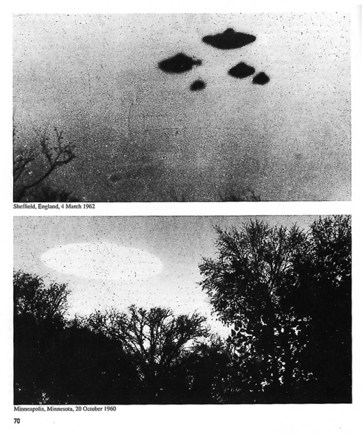 Photos of UFOs sighted in Sheffield, England 1962, and Minneapolis, Minnesota, 1960