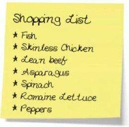 Medifast Lean & Green Meal Shopping List