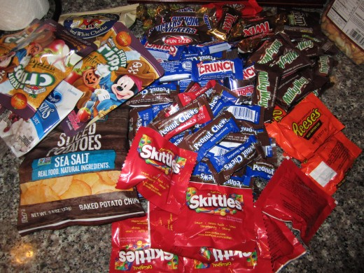 Here is my candy haul.
