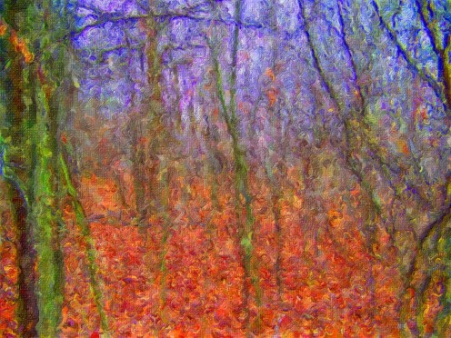 Painting: autumn woods