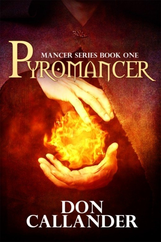 Cover of the first book in the 'Mancer series, reprinted by Mundania Press in 2013.