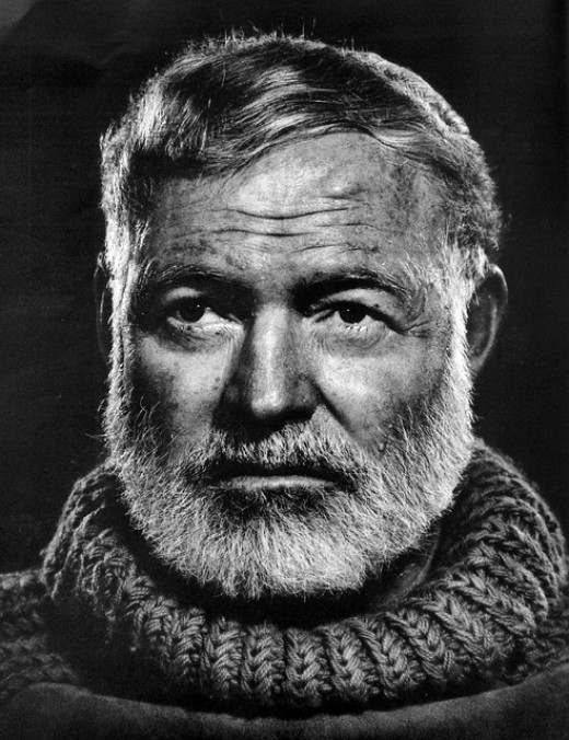 Ernest Hemingway.  Writing a novel can be a huge challenge.  Hemingway's writing tips are worth checking out.
