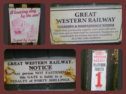 Some memorabilia from yesteryear's railway line.