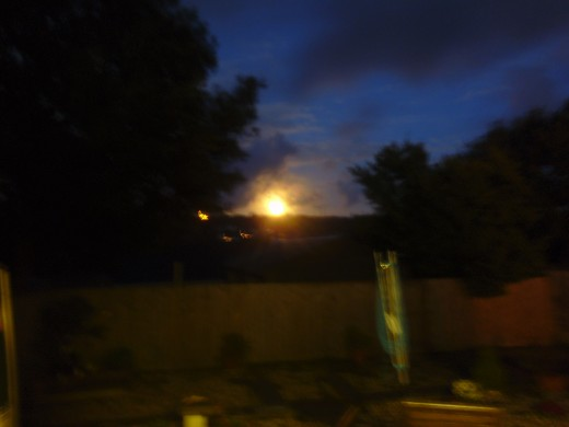 The moon setting from our home at 6am Wednesday morning.