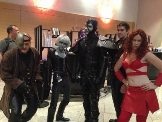 Some dedicated Farscape cosplayers.