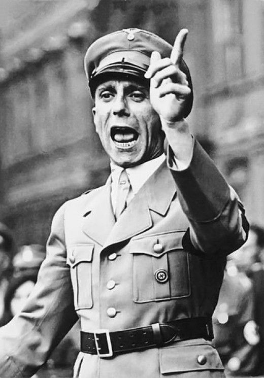 "Reich Propaganda Minister Dr. Joseph Goebbels. ""Not the foreign press, but we govern in Germany."""