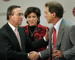 From left, Dr. Witt; Terry Saban; Nick Saban