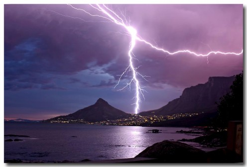 Thunder storm over the Cape Town sky, no worries its still safe indoor