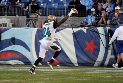 Will Blackmon scoring the winning TD against the Titans last November for Jacksonville's first win of the season.