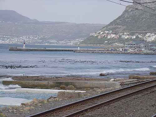 Train tracks through Kalk Bay