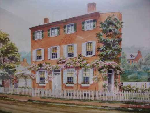 A portion of the Poe House as it looked when Poe was a resident.