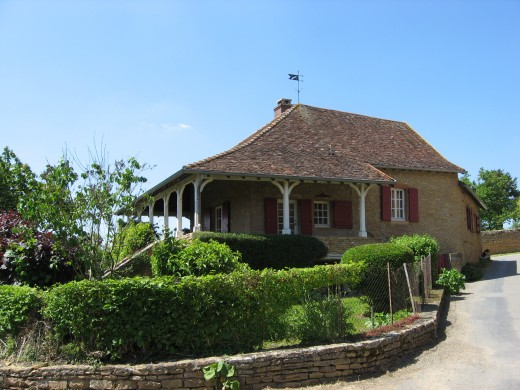 Typical house in a French village.