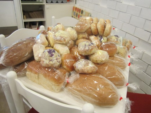 Assorted breads from Manna