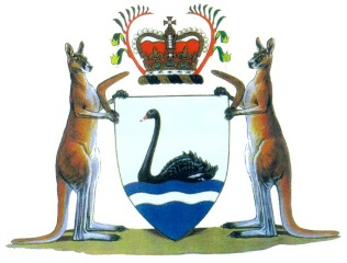 State Coat of Arms of Western Australia.