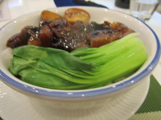 Pork stew with bokchoy