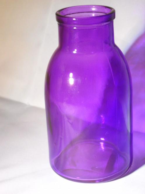 """4)  6"""" Glass vase"""