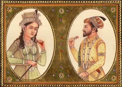 Emperor Shah Jahan and Empress Mumtaj Mahal