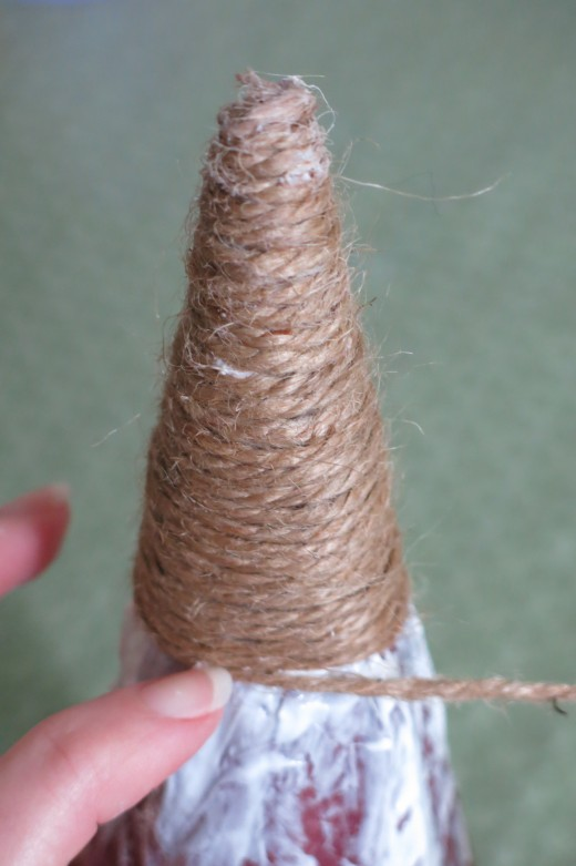 Wrapping your cone with twine or yarn
