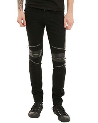 Knee Zip Jeans