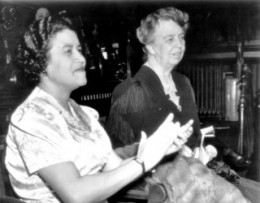 Crystal Bird Fauset with Eleanor Roosevelt