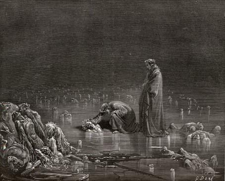 Gustave Dore. Illustration for Dante Alighieri's Divine Comedy (1308 - 1332). 1867