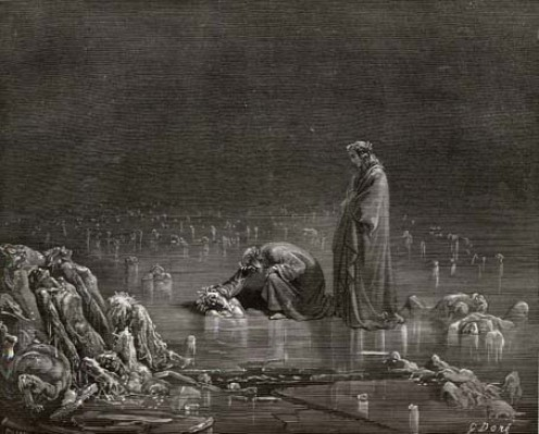 Gustave Dore. Illustration for Dante Alighieri's Divine Comedy (1308 - 1332). 1867