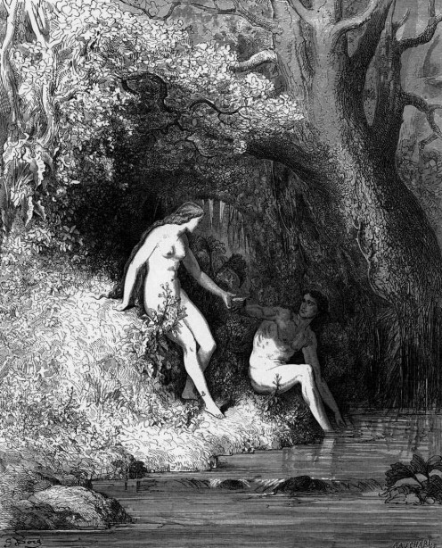 Gustave Dore. Illustration for John Milton's Paradise Lost (1667). 1866