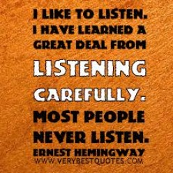 An ear to hear: Learn how to listen and reap a harvest.