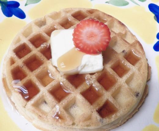 Sugar Free Syrup on Waffles