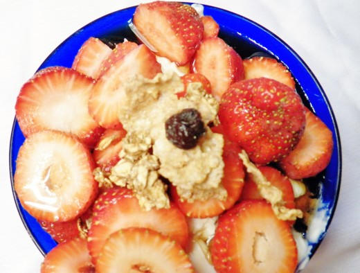 Sugar Free Syrup on Fruit and Yogurt, topped with sugar free granola made with Mrs. Butterworth's is a great breakfast.