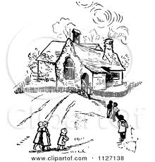 Clipart of two- room schoolhouse