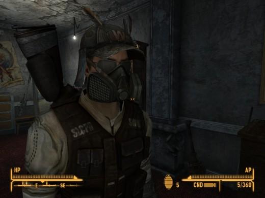 Honest Hearts DLC hat, sunglasses and mask