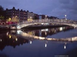 Dublin, Ireland, at night