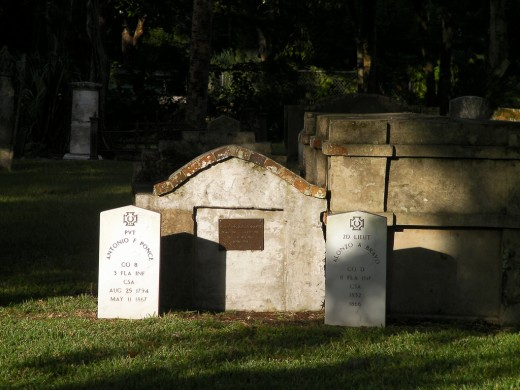 Above Ground Tombs And Grave Markers Inside The Huguenot Cemetery