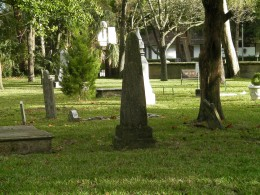 Very Old Tombstones Inside The Huguenot Cemetery In St Augustine Florida