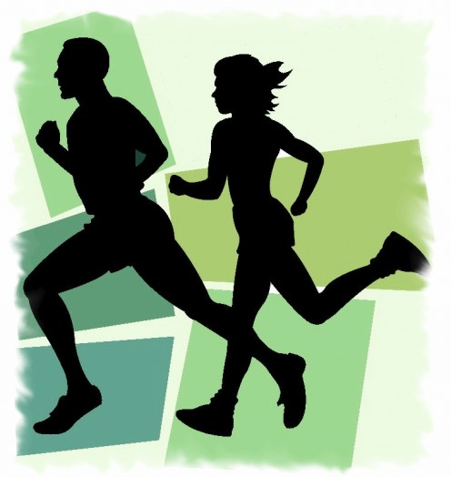 A jog is to run at a leisurely, slow pace, especially as an outdoor exercise. Some people jog two miles every morning to keep in shape.