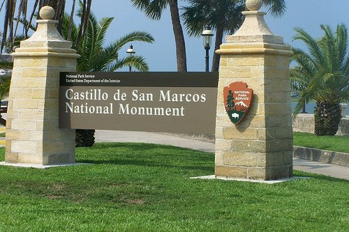 Sign Welcoming You To The Old Spanish Fort