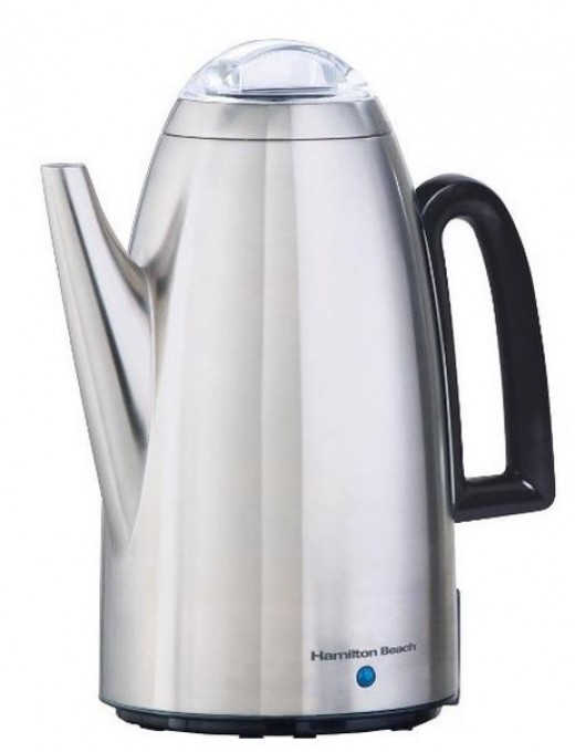 Coffee Maker In Jordan : Hamilton Beach Electric Stainless Steel Coffee Percolator 12-Cup 40614 Review