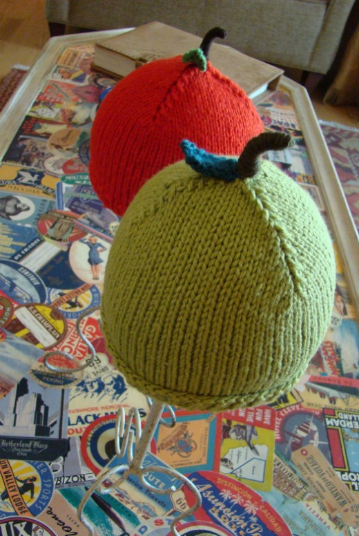 Deliciously sweet green or red Apple Hat