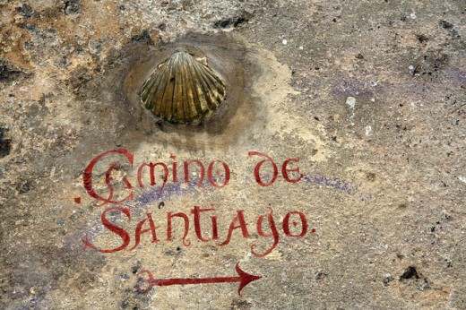 The Clam Shell is the Symbol of the Camino de Santiago Trail