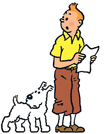 Tintin, another French cartoon character that has become popular as Decal