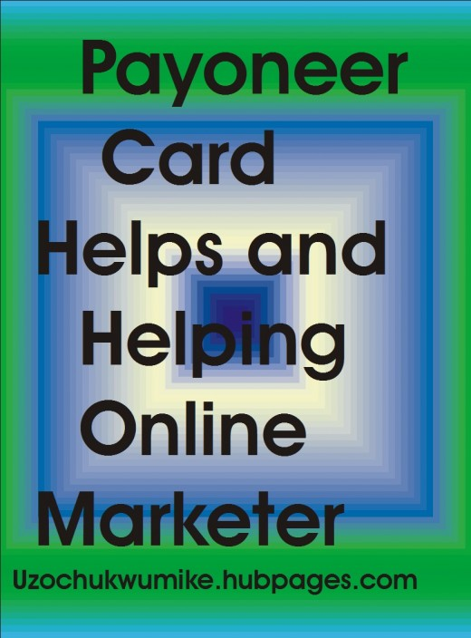 Online marketers are being paid through Payoneer card.