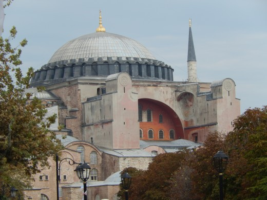 An external view that has been seen sine 360 A.D., the Byzantine Empire to the Ottoman Empire to Modern Day. It became a museum in 1935