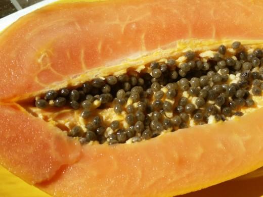 Ripe papayas are rich in Vitamin C