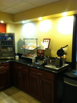 Donuts and Waffle Maker within the breakfast room