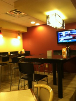 Breakfast area seating with television available for your morning news and weather