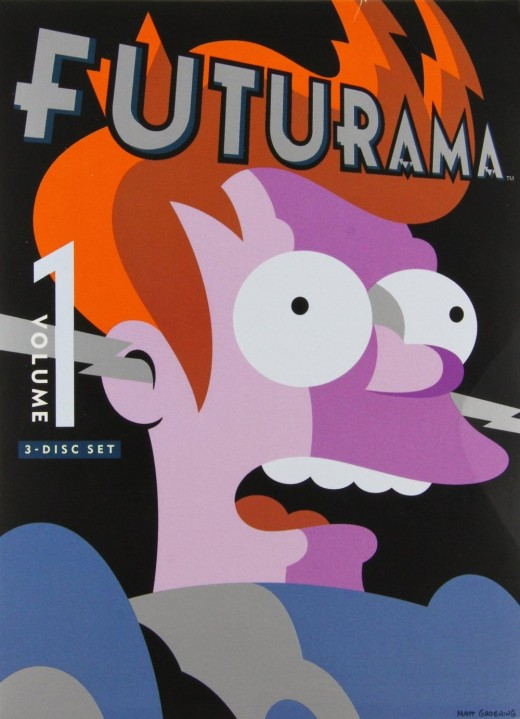 Cover art of the first Futurama DVD volume featuring the protagonist of the series, Fry.