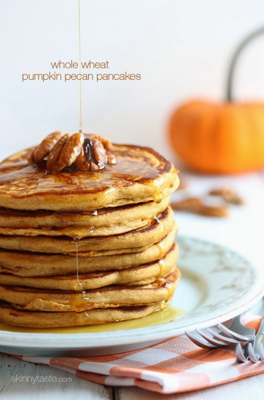 whole wheat  pumpkin pecan pancake recipe
