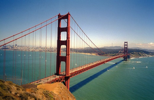 The magnificent Golden Gate Bridge.
