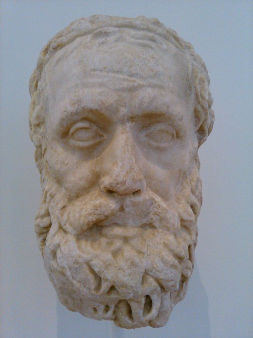 Bust of Aeschylus, Greek playwright.